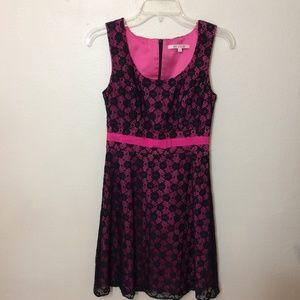 REVIEW Pink/Black Lace Dress